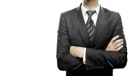 young businessman standing  with hands  folded Stock Photo - 21284498