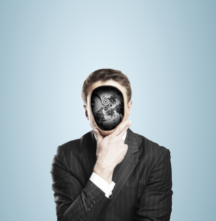 businessman with gears in head Stock Photo - 21862317