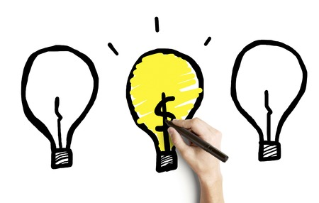 hand drawing three lamp on a white background Stock Photo - 22392770