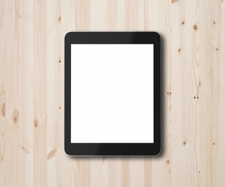 touch pad: touch pad on a wooden background