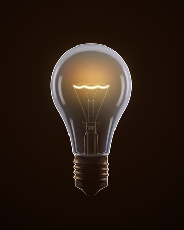 filaments: Light bulb isolated on black
