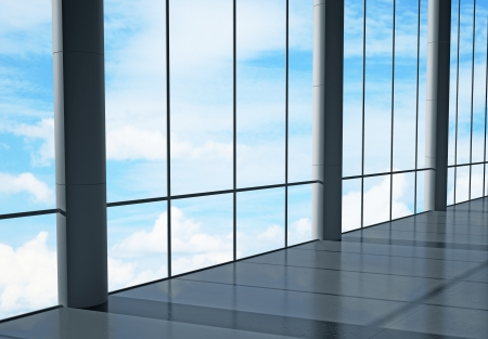office interior and sky view Stock Photo - 22470533