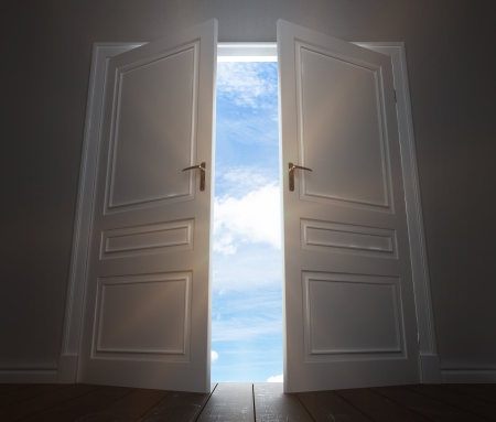 room with open big door to sky Stock Photo - 22648362