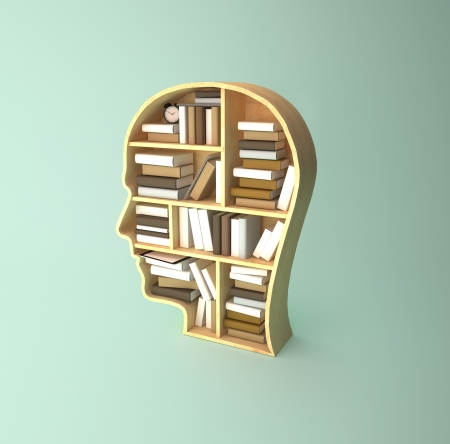 book shelf in form of head Stock Photo - 22768133