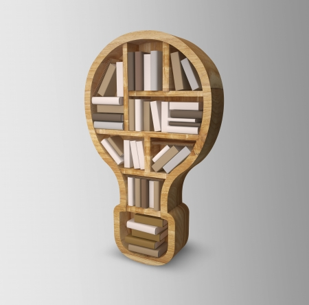 book shelf in form of lamp   Stock Photo - 22768134