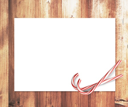 two candy merry christmas and blank placard photo