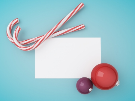 two candy merry christmas, paper and christmas toy Stock Photo - 23927734