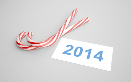 candy merry christmas on gray background Stock Photo - 24125398