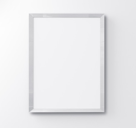 frame on wall: cornice bianca su sfondo bianco