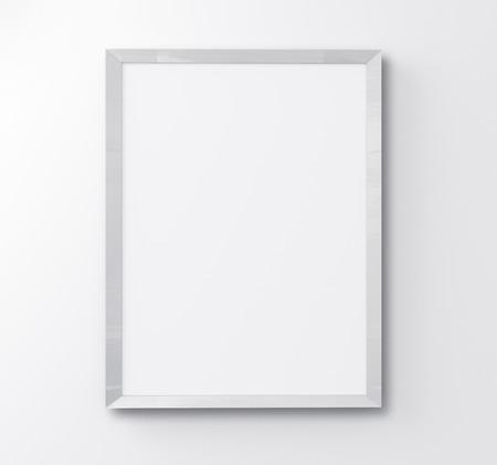retratos: marco blanco sobre fondo blanco Foto de archivo