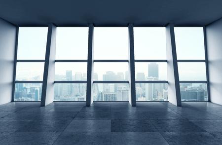 big modern sunlight hall and window Stock Photo - 24798237