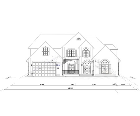 blueprint home on a white background Stock Photo - 25161395
