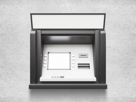 bancomat: atm machine with blank display Stock Photo