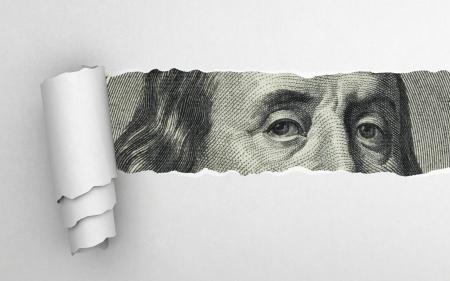 달러 지폐에 벤자민 프랭클린의 얼굴