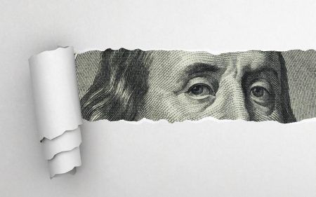 Benjamin Franklin faccia sul dollaro fattura Archivio Fotografico - 25377781