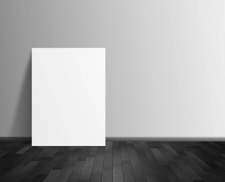 amaged: blank poster hanging on wall