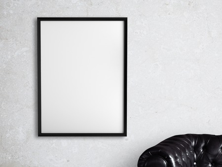 amaged: white frame hanging on a white wall
