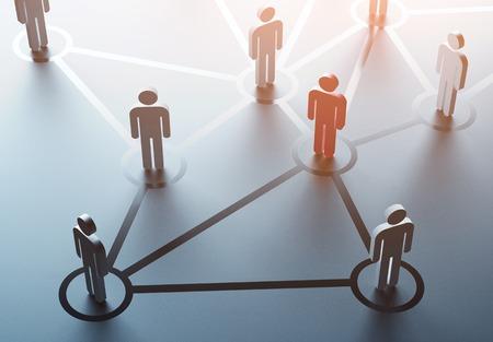 network marketing: grupo de personas hablando en la red social