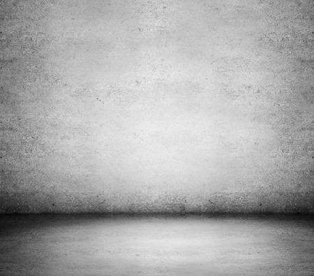piso piedra: pared gris de edad y piso de concreto Foto de archivo