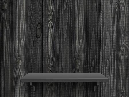 marco madera: alta resolución estante de madera gris