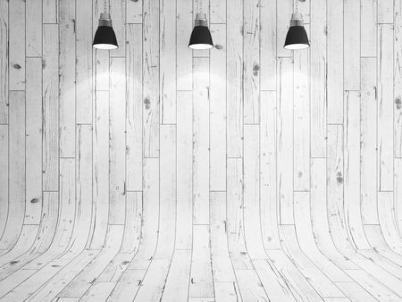 Blanco laminado de madera y lámpara como fondo Foto de archivo - 53819234