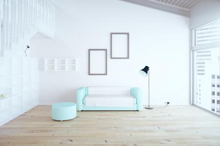 Diseño De Interiores De Lujo Con Suelo De Madera, Paredes De Color ...