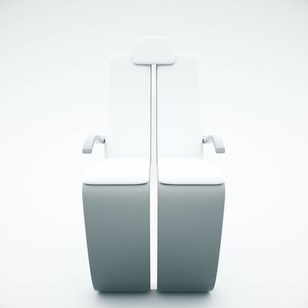 frontview: Frontview of futuristic chair on light background. 3D Rendering