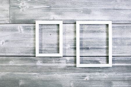 Blank See-through Frame On Antique Wooden Background. Mock Up Stock ...