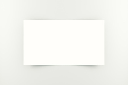 visiting card: Blank white business card on light background. Closeup, Mock up, 3D Rendering