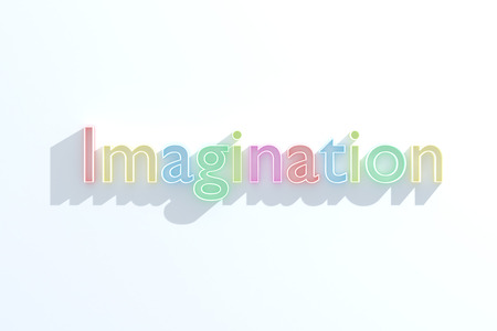 insightful: Colorful word imagination on white background with shadows