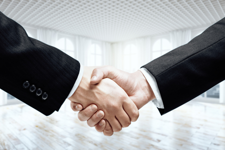teamwork concept: Closeup of businesspeople shaking hands. Teamwork and partnership concept