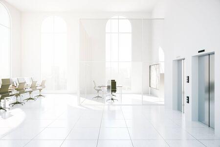 modern office: Modern office interior. 3D Rendering
