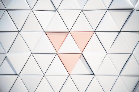 trendy tissue: White triangular background. 3D Rendering