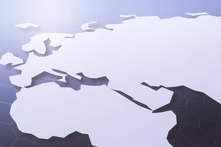 global communication: Abstract map background with copy space