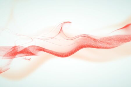 Abstract polygonal red smoke on white background