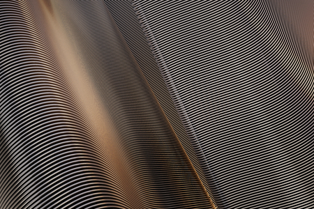 stainless: Creative iron lines backdrop. 3D Rendering Stock Photo