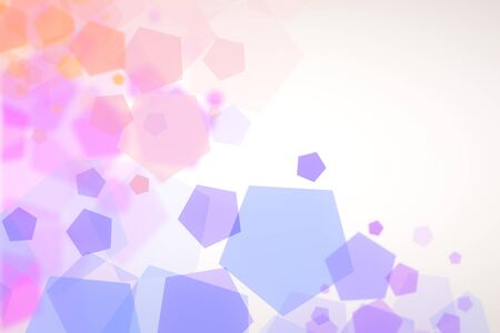 digital: Creative light purple hexagon background Stock Photo
