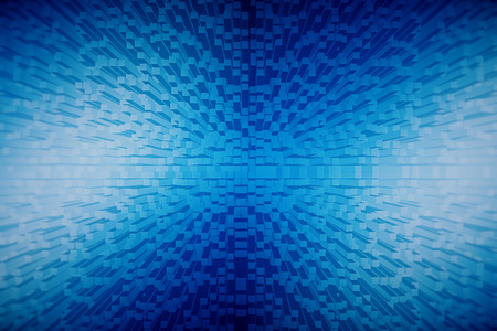 Creative tiny blue brick background. 3D Rendering Stock Photo