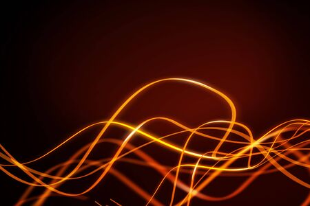 Abstract bright glowing wave backdrop. Decoration concept. 3D Rendering