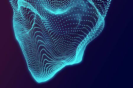 Streszczenie tekstura cyfrowy niebieski. Technologia, koncepcja przestrzeni. Renderowanie 3D Zdjęcie Seryjne