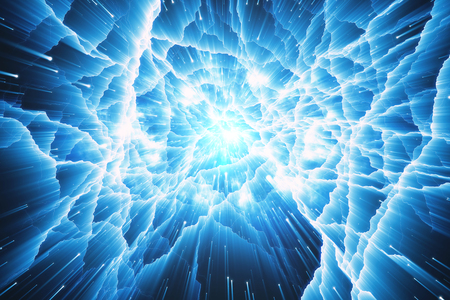 technology background: Abstract glowing infinity background. 3D Rendering