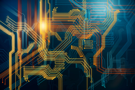 Abstract Digital Circuit Wallpaper. Technology And Computer Hardware ...