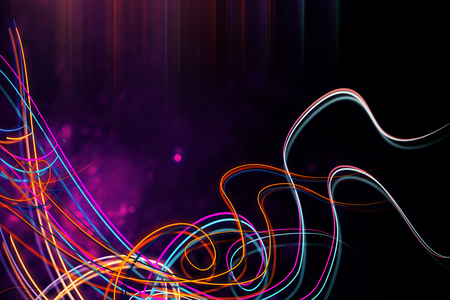 Creative colorful digital wave background. 3D Rendering