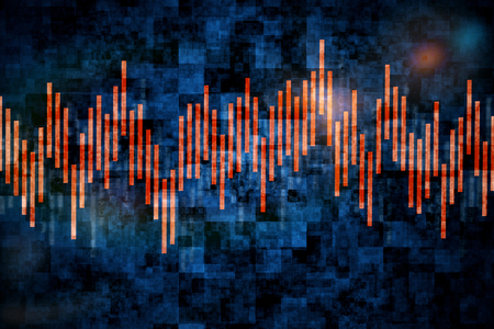 Abstract background with forex chart. Double exposure
