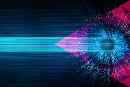 Abstract eye background. Vision concept. 3D Rendering  Stock fotó