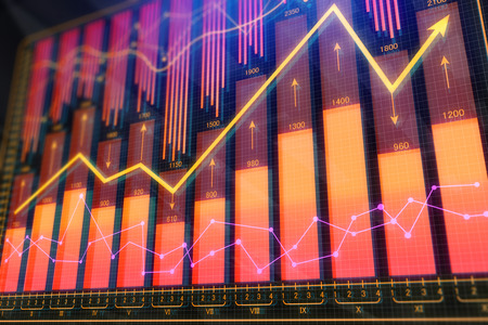 Abstract forex backdrop. Investment and finance concept. 3D Rendering