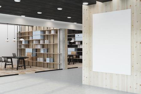 Moderne bibliothek interieur mit stuhl tisch bücherregal und