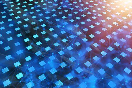 Abstract digital wallpaper. Technology, artificial intelligence and innovation concept. 3D Rendering  Reklamní fotografie
