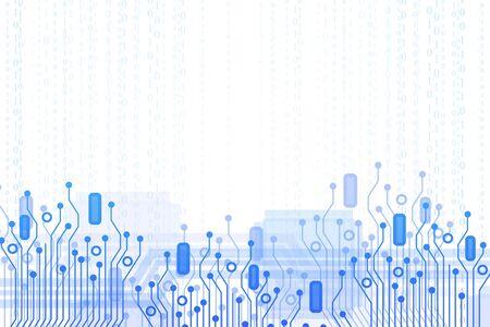 Creative circuit background. Computing and hardware concept. 3D Rendering  Standard-Bild