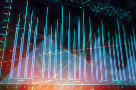 Abstract forex chart texture. Investment. finance and trade concept. 3D Rendering